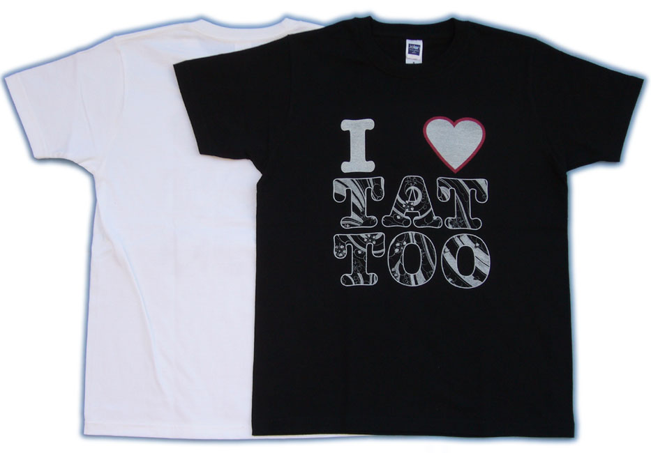 I LOVE short sleeve tattoo tattoo Tshirt printed Mikiri Sakura Fubuki