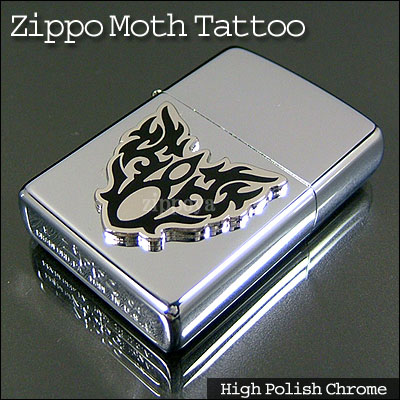 Zippo Moth Tattoo Emblem 20872 Toraibarumetarujippo