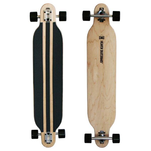41.5インチ HEAVEN DROP SURF 訳あり あす楽対 送料無料 数量限定・特別価格ヘブンロングスケートボード(ロンスケ)カラー:ナチュラルオフトレに最適スライドにもカービングの練習に最適