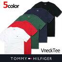 USA直送【TOMMY HILFIGER】トミーヒルフィガーメンズ Vネック Tシャツ t397 レッド ブラック ネイビー ホワイト グリーン