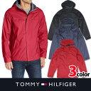【TOMMY HILFIGER】トミーヒルフィガーメンズ ナイロンジャケット ブラック レッド ネイビー 雨に強い撥水加工 t451