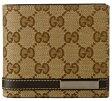 GUCCI 365481-FAFXR-9643グッチ 二折小銭財布キャンバスxレザーベージュxブラウン