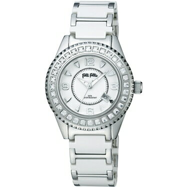 FOLLIFOLLIE  WF5T138BDWフォリフォリ腕時計 シルバ・ホワイトベルト ★☆正規品・新品・未使用品