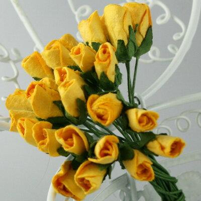 バラつぼみ 装飾用造花【花】枝付きバラつぼみ・...の紹介画像2