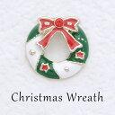 ショッピングクリスマスリース クリスマスリースピンブローチ お値段お手軽  パーティー、お出かけ、発表会にも♪