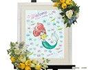 楽天ACUBE【Disney】ウェルカムボード ウェディング ディズニーのウェルカムボード ウェディングツリー リトルマーメイド(アリエルとフランダー)※30名〜70名用 ウエディング ブライダル 結婚式 bridal