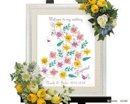 【Disney】ディズニーのウェルカムボード ウェディングツリー ラプンツェル(花飾り)M ※10名?35名用 ウェルカムボード ウェディング