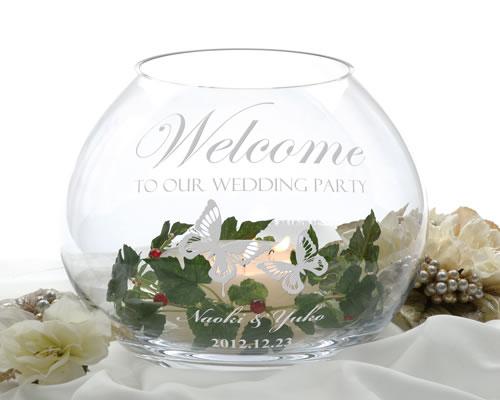 キャンドルボール テフ [結婚式(ウエディング)ウェルカムボード] ガラスとキャンドルで幻想的な世界を演出します。