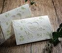 楽天ACUBEウエディング 招待状 結婚式 手作りセット ラ・フルールW ホワイト 結婚式招待状 手作りキット ブライダル ウェディング bridal