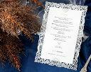 楽天ACUBEメニュー表 手作りセット 結婚式 ウエディング 結婚式メニュー表 ボナペティW(ホワイト) 手作りキット ブライダル ウェディング bridal