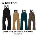 BURTON バートン ウエア 19-20 GORE-TEX RESERVE BIB PANT ゴアテックス リザーブ ビブ パンツ MENS メンズ