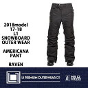 17-18 L1 2018 エルワン スノーボードパンツ AMERICANA PANT アメリカーナ パンツ RAVEN 送料無料 正規品 align=