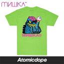ショッピング半袖 【送料無料】MISHKA MISHKA4LIFE Tシャツ ライム 半袖 緑 TEE Lime Green