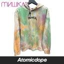 【送料無料】MISHKA MAW190446 プルオーバー フーディー パーカー マルチカラー 総柄 PULLOVER HOODY PARKA Multicolor ミシカ