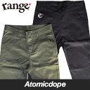 【送料無料】range rg stretch サルエル パンツ 黒 緑 ブラック オリーブ sarouel pants Black Olive レンジ