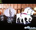 ショッピングKINGDOM 【大型商品】【イルミネーション】キングダム馬車【馬車】【馬】【ホース】【うま】【3D】【クリスマス】【電飾】【装飾】【飾り】【パーティ】【イベント】【光】【LED】【モチーフ】【オブジェ】