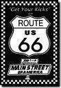 ルート66【Route 66】【ブラック】ポスター!アメリカ〜ンなポスターが勢揃い!お部屋をカスタムしちゃいましょう♪【】【新商品】【大..