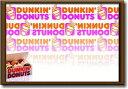 ダンキンドーナツ【Dunkin' Donuts】【Mサイズ】大き目のイラスト ピクチャーフレーム!インテリアにどうぞ♪アメリカの香りがする商品..