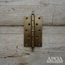 蝶番 大きめ 真鍮 V.020 DIY 金物 開き戸 ログハウス