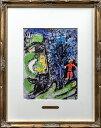 【版画】【中古】 プロフィールと赤い子供 リトグラフ マルク・シャガール(Marc Chagall)