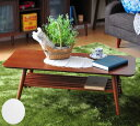 折りたたみ 木製 棚付 リビング テーブル 大 W110 座卓 ローテーブル コンパクト 書斎 おしゃれ 北欧 ウッド