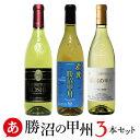 【 送料無料 】勝沼の甲州 3本セット [720ml×3本] ワイン セット 白ワイン 甲州ワイン 日本ワイン 国産