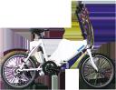 20インチ 電動アシスト自転車 ■便利でおしゃれな折りたたみタイプ(YF20B)■小型で軽量な24Vバッテリータイプ■自転車の安全性を証明するBAAマーク付!■...