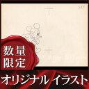 ショッピングミッキー 【オリジナルイラスト画】ミッキーマウス (ディズニー グッズ 鉛筆画) /額装サービス