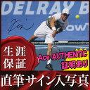 ショッピングau 【直筆サイン入り写真】 錦織 圭 /テニス ラケットを持った写真 /ブロマイド オートグラフ [Ace AUTHENTIC]