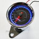 2360 バイク 二輪 スクーター ATV バギー トライク 12V LED 電気式 汎用 レブ 13000rpm タコメーター 黒/メッキ