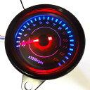 5193 LED タコメーター 汎用 12V 電気式13000 配線説明有り APE モンキー ゴリラ DAX GSX250 ATV シャリー ダックス など 黒