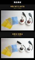 LEDヘッド/フォグランプ時代はHIDからLEDへCREE/クリー社製LED4200ルーメンフィルム付属で色温度が5色から選べるH8/H11/H16HB3/HB4