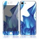 【iPhone7/7Plus】スキンシール A2/青い炎【お取寄せ】[アイフォン アイフォーン アイホン] かわいい/人気/おしゃれ/デコ/ステッカー/スマホ/保護/シール/背面/iphone 7 plus/カバー/ケース/アクセサリー スマートフォン用