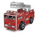 つくってあそぼう ペーパークラフト トミカ 消防車 転がるプラスチックタイヤ! TOMICA おもちゃ 知育玩具