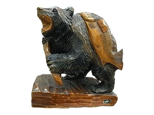 木彫り熊 民芸品 送料無料 HOKKAIMOKKOSHA【質屋出店】【】:質屋ボッカ エルメス ・デラ グッチ・ベリタ