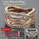 指輪 CZダイヤ(キュービックジルコニア)リング 人気のピンクゴールド シルバー CZダイヤ(キュービックジルコニア) メレタイプ ウェーブデザイン 7号〜13号 mor12r-09 ssD