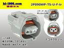 住友電装090型TS防水2極Fコネクター(端子無)/2P090WP-TS-U-F-tr