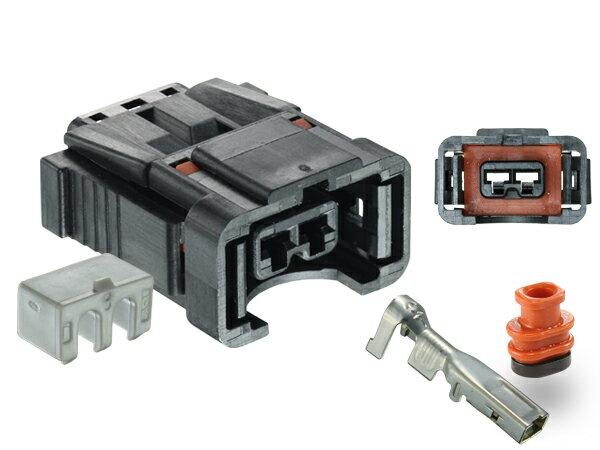 矢崎総業DMS(インジェクター)2極F側センターリブコネクタ(リヤホルダ付き)/2P110WPK-DMS-F