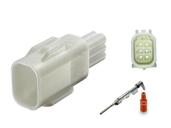 住友電装025型TS防水シリーズ6極Mコネクタ(端子付)/6P025WPK-TS-M