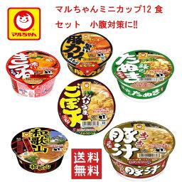にぎわい広場マルちゃん カップ麺 ミニ 6柄 各2個 12食セッ 小腹対策に 送料無料