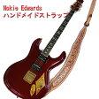 Mosriteコーナー Judy Edwards-san 手作り Nokie ギターストラップ ブラウン ホワイトロゴ