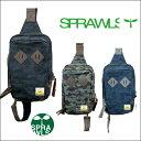 SPRAWLS スプロールズ Camo Body Bag カモ柄ボディバッグ SRC-034 Black / Gray / Navy ブラック/グレー/ネイビー【あす楽対応_関東】