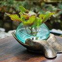【水鉢 花瓶 花器 水槽 オブジェ ガラスオブジェ フラワーベイス フラワーボウル インテリア小物 雑貨 送料無料】◆リブラン