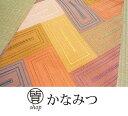 名古屋帯 正絹 カジュアル サーモンピンク 単 お洒落