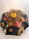 雨傘・長傘-婦人 甲州産ほぐし織り辻が花風柄日本製軽量ジャンプ雨傘【10P05Nov16】