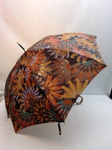 雨傘・長傘-婦人 カルデツイル孔雀柄軽量日本製ジャンプ雨傘【10P05Nov16】 傘 雨具 梅雨対策 ゲリラ豪雨いそがしい