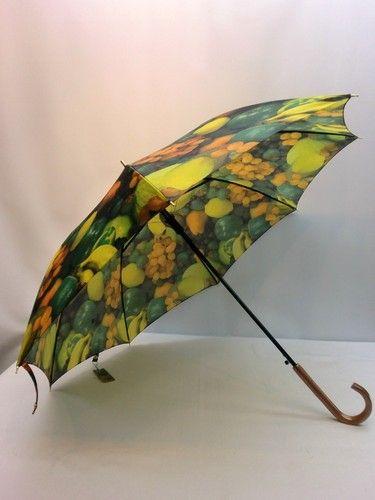 雨傘・長傘-婦人 カルデツイル果物屋柄軽量日本製ジャンプ雨傘【10P05Nov16】 傘 雨具 梅雨対策 ゲリラ豪雨