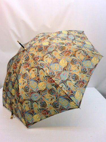 雨傘・長傘-婦人 日本製ポリエステルチョウ花プリント軽量ジャンプ雨傘。【10P05Nov16】 傘 雨具 梅雨対策 ゲリラ豪雨装飾