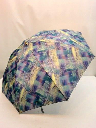 雨傘・折畳傘-婦人 日本製波線ぼかし柄軽量金骨2段式折り畳み雨傘【10P05Nov16】 傘 雨具 梅雨対策 ゲリラ豪雨【処理罰金】