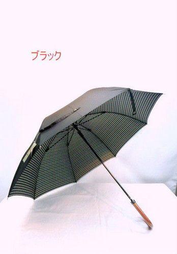 雨傘・長傘-紳士 甲州産先染め両面生地グラスファイバー骨ジャンプ傘 傘 雨具 梅雨対策 ゲリラ豪雨